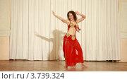 Купить «Девушка танцует танец живота на сцене», видеоролик № 3739324, снято 8 июня 2011 г. (c) Losevsky Pavel / Фотобанк Лори