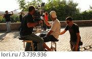 Купить «Оператор и актеры в  съемках эпизода фильма вблизи Вилла Медичи», видеоролик № 3739936, снято 13 июля 2011 г. (c) Losevsky Pavel / Фотобанк Лори