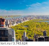 Вид на Центральный парк, Нью-Йорк, фото № 3743624, снято 17 апреля 2012 г. (c) Sergey Borisov / Фотобанк Лори
