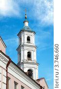 Купить «Колокольня Спасского собора, Елабуга, Татарстан», фото № 3746660, снято 28 июня 2012 г. (c) Евгений Ткачёв / Фотобанк Лори