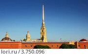 Петропавловская крепость в Санкт-Петербурге, таймлапс (2012 год). Стоковое видео, видеограф Михаил Коханчиков / Фотобанк Лори