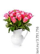 Купить «Букет роз в белом кувшине», фото № 3751716, снято 8 июня 2012 г. (c) Наталия Кленова / Фотобанк Лори