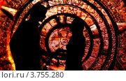 Купить «Силуэт пары, стоящей спинами друг к другу, в красочно украшенном туннеле», видеоролик № 3755280, снято 1 декабря 2011 г. (c) Losevsky Pavel / Фотобанк Лори