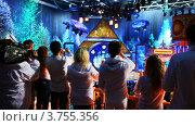 Купить «Люди снимают новогоднее шоу», видеоролик № 3755356, снято 25 ноября 2011 г. (c) Losevsky Pavel / Фотобанк Лори