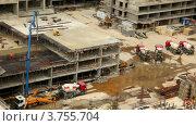 Купить «Строительство здания», видеоролик № 3755704, снято 28 ноября 2011 г. (c) Losevsky Pavel / Фотобанк Лори