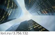 Купить «Три небоскреба», видеоролик № 3756132, снято 1 ноября 2011 г. (c) Losevsky Pavel / Фотобанк Лори