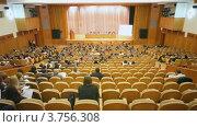 Купить «Президиум форума на сцене, вид из зала», видеоролик № 3756308, снято 25 сентября 2011 г. (c) Losevsky Pavel / Фотобанк Лори