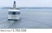 Купить «Круизный лайнер SILJA LINE обгоняет другой корабль, таймлапс», видеоролик № 3760508, снято 19 августа 2011 г. (c) Losevsky Pavel / Фотобанк Лори