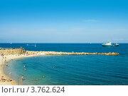 Купить «Отдых на пляже, Антиб, лазурное побережье Франции», фото № 3762624, снято 12 июня 2010 г. (c) ElenArt / Фотобанк Лори