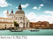 Купить «Гранд-канал и Собор Санта-Мария делла Салюте, Венеция, Италия», фото № 3762712, снято 12 июня 2012 г. (c) Iakov Kalinin / Фотобанк Лори