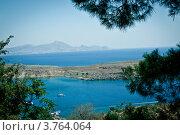 Вид на бухту в Средиземном море (2012 год). Стоковое фото, фотограф Elena Guseva / Фотобанк Лори