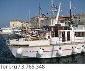 Купить «Стоянка катеров и яхт. Адриатическое море. Город Пореч. Хорватия. Европа», эксклюзивное фото № 3765348, снято 23 октября 2018 г. (c) lana1501 / Фотобанк Лори