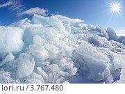 Купить «Солнечный зимний день на озере Байкал», фото № 3767480, снято 7 апреля 2012 г. (c) Serg Zastavkin / Фотобанк Лори