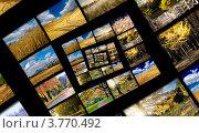 Спираль бесконечности с осенними фотографиями. Коллаж, фото № 3770492, снято 19 сентября 2017 г. (c) Liseykina / Фотобанк Лори
