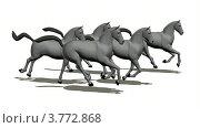 Купить «Табун лошадей на белом фоне», видеоролик № 3772868, снято 23 апреля 2009 г. (c) Losevsky Pavel / Фотобанк Лори