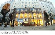 Купить «Туристы гуляют по Картнер штрассе, Вена, таймлапс», видеоролик № 3773676, снято 2 марта 2012 г. (c) Losevsky Pavel / Фотобанк Лори