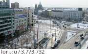 Купить «Люди и автомобили на Марияхилфер штрассе, Вена, таймлапс», видеоролик № 3773732, снято 3 марта 2012 г. (c) Losevsky Pavel / Фотобанк Лори