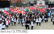 Молодежь идет на митинг (2012 год). Редакционное видео, видеограф Losevsky Pavel / Фотобанк Лори
