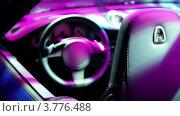 Купить «Салон кабриолета, раскрашенный иллюминацией», видеоролик № 3776488, снято 19 января 2012 г. (c) Losevsky Pavel / Фотобанк Лори