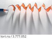Купить «Карандаш и стружка», фото № 3777052, снято 20 ноября 2010 г. (c) Руслан Гречка / Фотобанк Лори