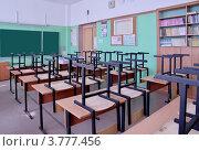 Купить «Пустой школьный класс», фото № 3777456, снято 24 августа 2012 г. (c) Илюхина Наталья / Фотобанк Лори
