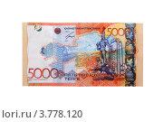 Купить «Деньги Казахстана.Пять тысяч тенге.», эксклюзивное фото № 3778120, снято 25 августа 2012 г. (c) Blekcat / Фотобанк Лори