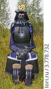 Купить «Японский средневековый черный лакированный доспех самурая», фото № 3778732, снято 25 августа 2012 г. (c) Иван Марчук / Фотобанк Лори