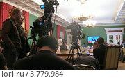 Купить «Журналисты на расширенном заседании Государственного Совета, таймлапс», видеоролик № 3779984, снято 27 мая 2012 г. (c) Losevsky Pavel / Фотобанк Лори