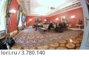 Купить «Журналисты на расширенном заседании Государственного Совета сидят напротив телевизоров, таймлапс», видеоролик № 3780140, снято 27 мая 2012 г. (c) Losevsky Pavel / Фотобанк Лори