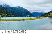 Купить «Альпийское Ахенское озеро летом , Австрия», фото № 3780680, снято 1 июня 2012 г. (c) Юрий Брыкайло / Фотобанк Лори