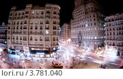 Купить «Здание компании Telefonika напротив кафе ночью, Мадрид, таймлапс», видеоролик № 3781040, снято 20 апреля 2012 г. (c) Losevsky Pavel / Фотобанк Лори