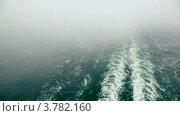 Купить «След от корабля, туман», видеоролик № 3782160, снято 26 мая 2012 г. (c) Losevsky Pavel / Фотобанк Лори