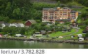 Гранд Фиорд Отель в маленькой прибрежной деревне среди леса (2012 год). Редакционное видео, видеограф Losevsky Pavel / Фотобанк Лори