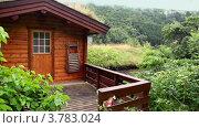 Купить «Норвежский деревянный дом на холме, туман поднимается из леса», видеоролик № 3783024, снято 15 мая 2012 г. (c) Losevsky Pavel / Фотобанк Лори