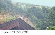 Купить «Деревянная крыша норвежского дома на холме, лес в долине ниже», видеоролик № 3783028, снято 15 мая 2012 г. (c) Losevsky Pavel / Фотобанк Лори