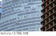 Купить «Работники специальных компании чистят окна небоскреба, таймлапс», видеоролик № 3786108, снято 29 мая 2012 г. (c) Losevsky Pavel / Фотобанк Лори