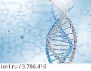 Купить «Модель молекулы ДНК на голубом фоне», иллюстрация № 3786416 (c) Sergey Nivens / Фотобанк Лори