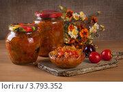 Купить «Овощная закуска из кабачков и баклажанов с томатами», фото № 3793352, снято 29 августа 2012 г. (c) Архипова Мария / Фотобанк Лори
