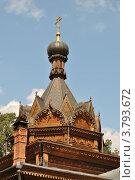 Купить «Храм святителя Тихона Задонского на Ширяевом поле в Сокольниках. Москва», эксклюзивное фото № 3793672, снято 5 августа 2012 г. (c) lana1501 / Фотобанк Лори