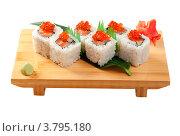 Купить «Суши, изолировано на белом фоне», фото № 3795180, снято 27 апреля 2011 г. (c) Александр Fanfo / Фотобанк Лори