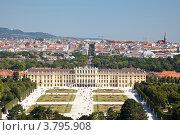 Купить «Панорама дворца Шёнбрунн и Вены», фото № 3795908, снято 14 августа 2012 г. (c) Наталья Волкова / Фотобанк Лори