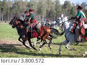 Купить «Русские конники  идут в атаку», фото № 3800572, снято 1 сентября 2012 г. (c) Наталья Волкова / Фотобанк Лори