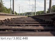 Железная дорога. Стоковое фото, фотограф Дмитрий Ворона / Фотобанк Лори