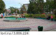 Фонтан, город Кандалакша, Мурманская область (2012 год). Редакционное фото, фотограф Вячеслав Палес / Фотобанк Лори