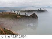 Купить «Байкал. Остров Ольхон в тумане», фото № 3813064, снято 2 августа 2012 г. (c) Виктория Катьянова / Фотобанк Лори