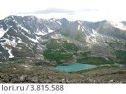 Купить «Озеро Акчан. Вид с горы Колбан», фото № 3815588, снято 13 июля 2009 г. (c) Анна Омельченко / Фотобанк Лори