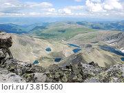Купить «Вид с горы Колбан. Горный Алтай», фото № 3815600, снято 13 июля 2009 г. (c) Анна Омельченко / Фотобанк Лори