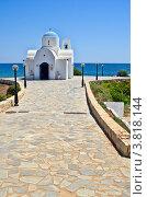 Церковь на пляже. Кипр. Стоковое фото, фотограф Владислав Сернов / Фотобанк Лори