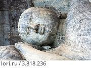 Высеченная в скале статуя лежачего спящего будды в Гал Вихара Шри Ланка, фото № 3818236, снято 4 ноября 2009 г. (c) Эдуард Паравян / Фотобанк Лори