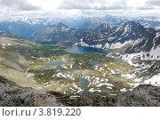 Купить «Горный Алтай. Вид с вершины горы Колбан», фото № 3819220, снято 13 июля 2009 г. (c) Анна Омельченко / Фотобанк Лори